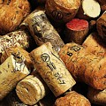 Wine And Champagme Corks by Cathie Tyler