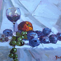 Wine And Fresh Fruits by Ylli Haruni