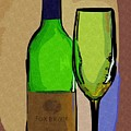 Wine And Glass by Donna Bentley