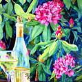 Wine And Rhodies by Karen Stark
