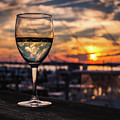 Wine At Sunset In The Hamptons by Alissa Beth Photography