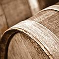 Wine Barrel In Cellar by Brandon Bourdages