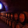 Wine Barrels In Napa by Brian M Lumley