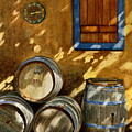 Wine Barrels by Karen Fleschler