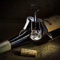 Wine Bottle, Corkscrew And Cork by Ian Barber