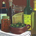 Wine Bottles And Jars by Joseph Schilling