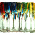 Wine Flutes by Henry J Yasses