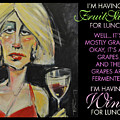 Wine For Lunch Poster by Tim Nyberg