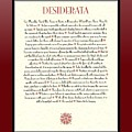 Wine Framed Sunburst Desiderata Poem by Desiderata Gallery