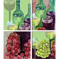 Wine From Grapes Collage by Arline Wagner