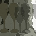 Wine Glass Abstract by Dorlea Ho