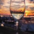 Wine Glass Sunset In The Hamptons by Alissa Beth Photography