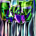 Wine Glasses With Colorful Drinks  by   larisa Fedotova