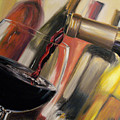 Wine Pour II by Donna Tuten