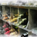 Wine Rack Mixed Media 01 by Thomas Woolworth