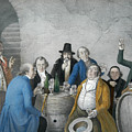Wine Tasters In A Cellar by Johann Peter Hasenclever