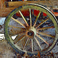 Wine Wagon Wheel by Barbara Snyder