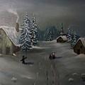 Winter In A German Village by Donald Paczynski