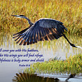 Wings Of Refuge With Scripture by Brian Tada