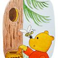 Winnie The Pooh And His Lunch by Irina Sztukowski