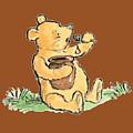 Winnie The Pooh T-shirt by Herb Strobino