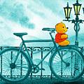 Winny The Pooh On The Bicycle by Irina Sztukowski