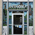 Winona Minnesota City Hall Entrance Stained Glass by Kari Yearous
