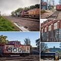 Winona Minnesota Trains Collage 8x10 by Kari Yearous