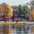 Winona Minnesota Veterans Memorial In Fall by Kari Yearous