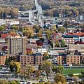 Winona Minnesota With University And Bridge by Kari Yearous