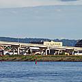 Winona Mn Panorama From River by Kari Yearous