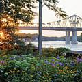 Winona Mn Sunset At Levee by Kari Yearous