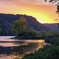 Winona Mn Sunset Peninsula Yearous by Kari Yearous