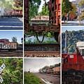 Winona Mn Trains Collage 2 by Kari Yearous