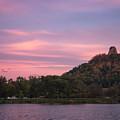 Winona Sugarloaf Pink Skies With Geese by Kari Yearous