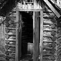 Winslow Log Outhouse by Curtis J Neeley Jr