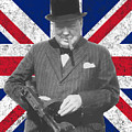 Winston Churchill And Flag by War Is Hell Store