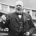 Winston Churchill Campaigning - 1945 by War Is Hell Store