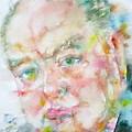 Winston Churchill - Watercolor Portrait.4 by Fabrizio Cassetta