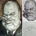 Winston Churchill's Caricature by Monica De Bellis