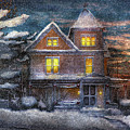 Winter - Clinton Nj - A Victorian Christmas  by Mike Savad