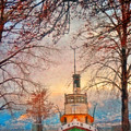 Winter And The Tug Boat by Tara Turner