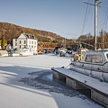 Winter At Bowling Harbour by Sophie McAulay