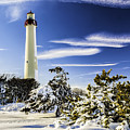 Winter At Cape May Light by Nick Zelinsky