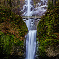 Winter At Multnomah Falls 2 by Hans Franchesco