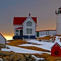 Winter At Nubble Light  by Scott Moore