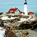 Winter At Portland Head by Greg Fortier