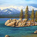 Winter At Sand Harbor Lake Tahoe by Frank Wilson