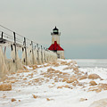 Winter At St. Joe's Light by Susan Rissi Tregoning