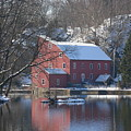 Winter At The Clinton Mill by Amanda Vouglas
